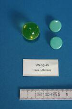 Uranglaskugel 25 mm, Knopfstrahler als Prüfstrahler - Geigerzähler