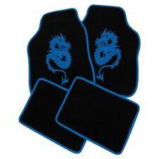 Petex Universal Autoteppich Set Dragon Blau 4-Teilig Fußmatten