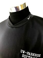 Nike Dri-Fit Men's Xl Athletic Exercise Shirt L/S Black Uw-Parkside Softball A31