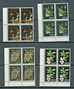 Venezuela 1962 Orchids 18v in unmounted mint blocks of 4 as scans