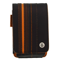 Crumpler Gofer Royale 55 Leather Compact Camera Case - Dark Brown / Dark Orange