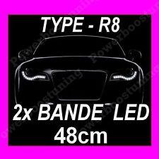 BANDE A LED SOUPLE BLANCHE PHARE FEUX DE JOUR DIURNE FEU BLANC 48CM FLEXIBLE