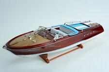 """Riva Aquarama Lamborghini Classic Boat 35"""" Handmade Wooden Boat Model"""