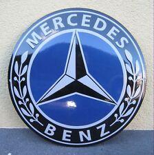 Emailschild Mercedes Benz Rund  Grösse Durchmesser 50 cm