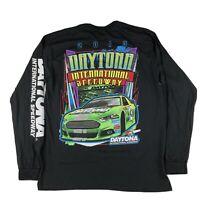 Nascar Daytona International Speedway Logo Black Long Sleeve T-SHIRT Graphic