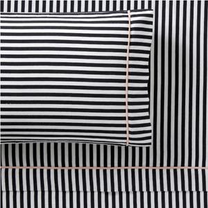 Pottery Barn PB Teen Emily & Meritt Pirate Stripe Sheet Set Flat Fitted Twin
