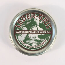 Leder Gris Original Wax Oil BROWN 40g Tin Waterproofing Boot Treatment Polish