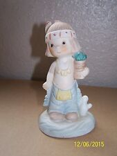 Enesco Indian boy figurine! stands about 5 inches tall~adorable