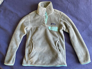 Patagonia Women's ReTool Snap-T Fleece Pullover Sweater Grey Blue Extra Small