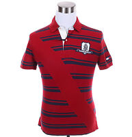 Tommy Hilfiger Men Short Sleeve Stripe Logo Pique Custom Fit Polo Shirt -$0 Ship