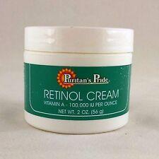 Puritan's Pride Retinol Cream Vitamin A 100,000 IU 2 Ounce Moisturizer Skin Care