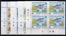 Cayman Islands 1989 Centenary of Cayman Islands Postal Service MNH blocks of 4