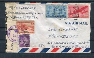 Lupo Brief USA mit britischer Zensur New York-Köln Deutz - b4524