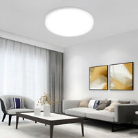 Round Super Thin Ceiling Light Surface Mounted Panel Living Room Lamp Fixture 1x