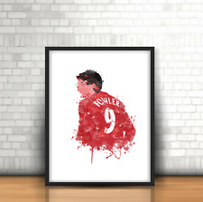 Robbie Fowler - Liverpool Inspired Football Art Print Design The Reds Number 9