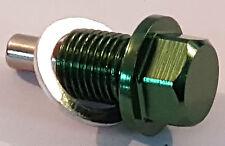 TOYOTA M12X1, 25 magnético cárter Tapón de cárter Celica Mr2 Supra Starlet Verde