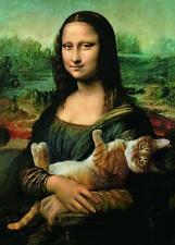 Trefl 37294 Puzzle 500 Teile Mona Lisa und das schnurrende Kätzchen Katze
