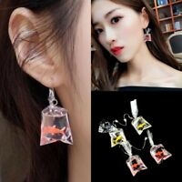2017 New Fashion Jewelry Cute Personality Goldfish Earrings For Women Gift 2Clrs
