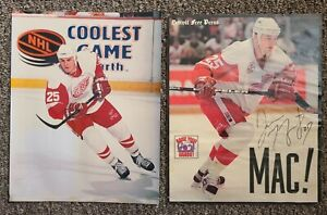 Darren McCarty Autographed Detroit Free Press Photo & McCarty Glossy 8x10 Photo