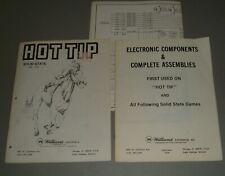 Williams Hot Tip Manual & Schematics + Components Book - Original
