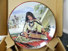 Sacajawea Noble American Indian Woman David Wright Collector's Plate Coa & Box