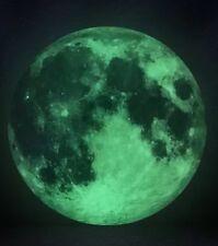 Luminous Moon Glow in the Dark Wall Sticker Moonlight 12 Inch Diameter Removable