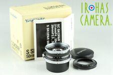 Voigtlander S Skopar 50mm F/2.5 Lens for Nikon S With Box #23467