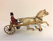 Antique Vintage Cast Iron Horse Drawn Cart Sulky Kenton