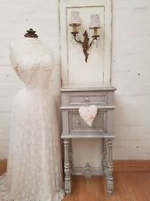 GORGEOUS LARGE ANTIQUE FRENCH MARBLE TOPPED POT CUPBOARD - C1900
