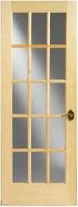 Interior Glass Door, 15 Lite Pine LOCAL PICK UP