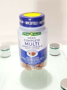 Spring Valley Men's Complete Multi Vitamin plus Omega-3, Mini Softgels, 90 Ct