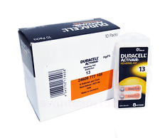 duracell hearing aid batteries 13 fresh Expire 2021 made in germany pack 120