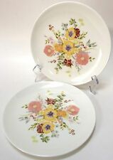2 Wedgwood Summer Bouquet Salad Plates Floral Bone China Made In England
