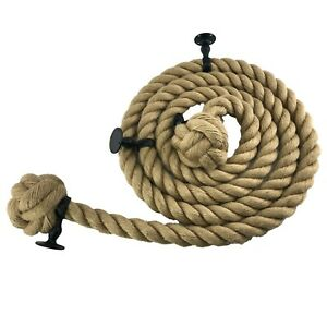Natural Jute Bannister Handrail Stair Rope Select Diameter, Length and Fittings