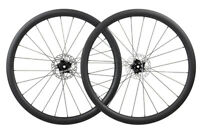 Carbon Wheelset Disc brake Clincher Floating Rotor Road Bike Rim Matt 700C 40mm