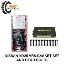 Nissan Navara D40 Pathfinder R51 YD25 Engine VRS Gasket Set & Head Bolts Kit