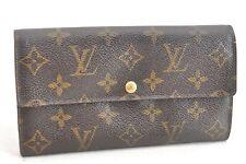 Auth Louis Vuitton Monogram Portefeuille Sarah Purse Wallet M61734 LV 51558