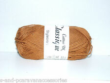 Stylecraft Classique Cotton Double Knit 50g Ball Toffee Shade 3656