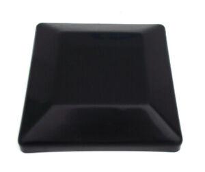 "Plastic Fence Post Black Caps 6X6 (5-5/8"" x 5-5/8"")"