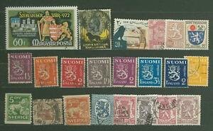 MTD A57 Finland Belgium a o 22v used Coat of Arms Lion