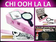"NEW! CHI PINK OOH LA LA CERAMIC 1"" HAIR STYLING FLAT IRON STRAIGHTENER GIFT SET"