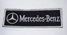 """MERCEDES BENZ Iron-On Embroidered Automotive Car Patch 4.5"""" x 1.5"""" Strip"""