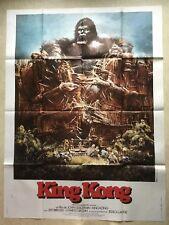 King Kong (Affiche cinéma EO 1976) Jeff Bridges, Jessica Lange, Guillermin