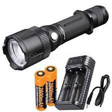 Fenix FD41 900 Lumen Zoomable  CREE XP-L HI LED Flashlight w/ Charger & 2x 18650