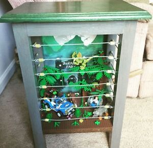 Lego Jurrasic World Display End Table