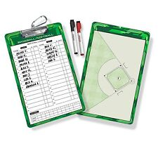 GoSports Baseball Coaches Board with 2 Dry Erase Markers