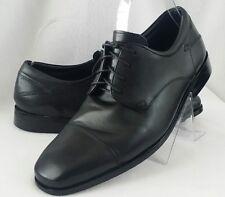 Florsheim Welles Mens Cap Toe Black Leather Oxford Dress Shoes 8 1/2 3E Lace Up
