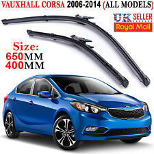 "Vauxhall Corsa D 26""/16"" Front Flat Vu Aero Wiper Blades Windscreen Window"