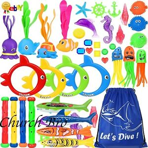 39pcs Diving Toys Swimming Pool Toys Under Water Training Gift for Kids
