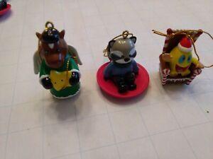 Vintage Webkinz Ornaments Ganz Figurines Set of 3
